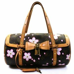 LV Cherry Blossom Papillon Small Studded Shoulder